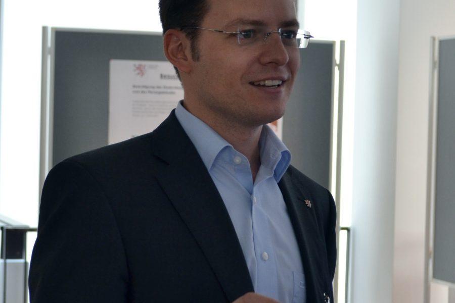 MdL Tobias Eckert bei einer seiner vielen Veranstaltungen